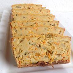 Torta salada de quinoa, zanahoria y aceitunas, en Gastroglam Blog.