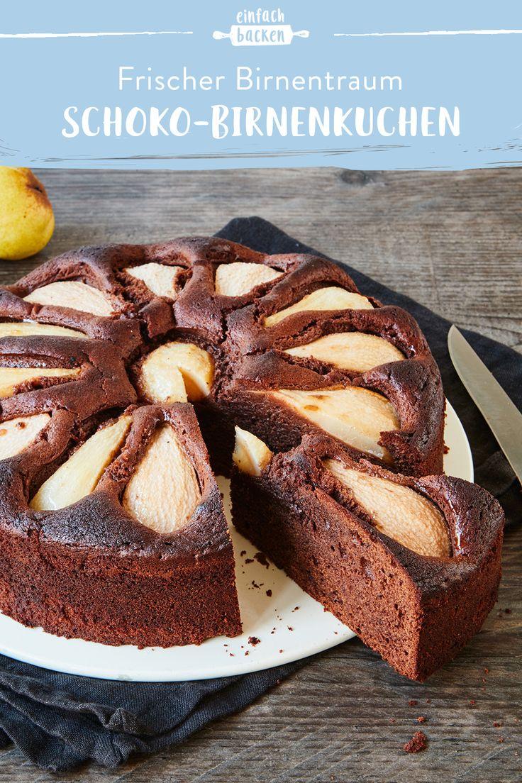 Saftiger Schokoladenbirnenkuchen   – Obstkuchen – Die leckersten Klassiker und neue Ideen
