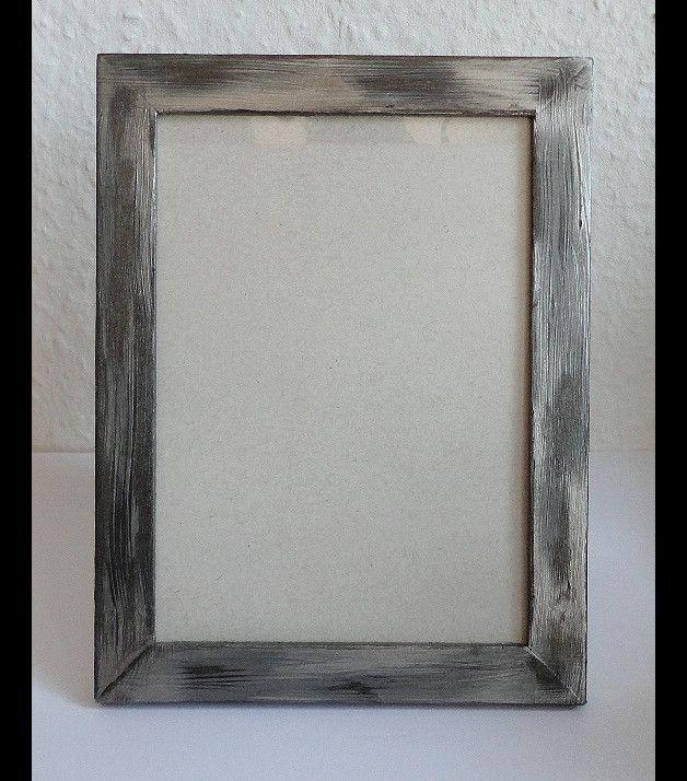 Bilderrahmen - Bilderrahmen silber-grau - ein Designerstück von Artesania-I bei DaWanda