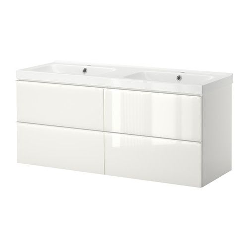 high gloss white bathroom cabinet godmorgon odensvik sink cabinet with 4 drawers high 16328