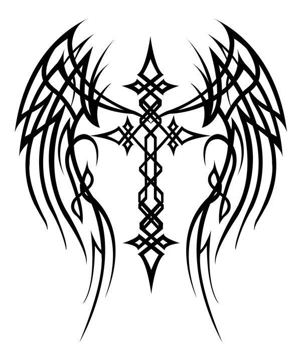 Cross with Wings Tattoo by MercedesJK on deviantART ...