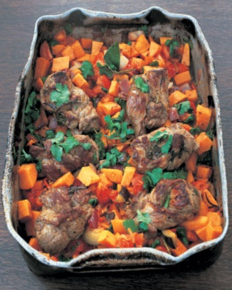 Jamie Oliver's Moroccan lamb stew, this can't be bad, everything I have made from Jamie Oliver is perfect!  Looks like a fall Sunday supper.