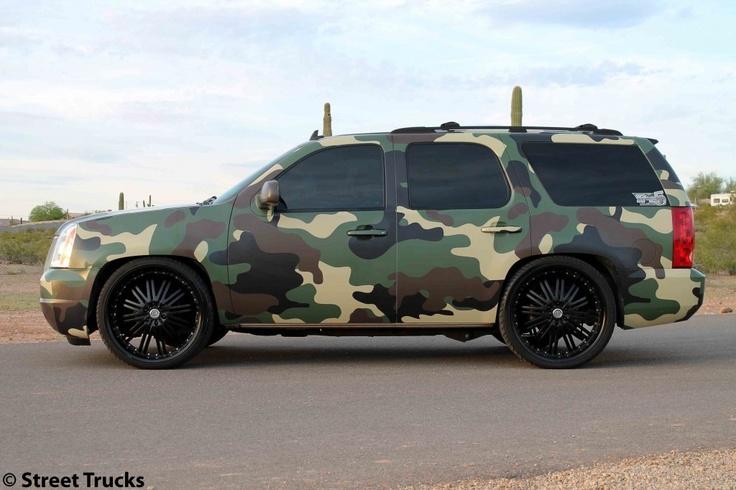 gmc with a camo wrap dream car garage pinterest. Black Bedroom Furniture Sets. Home Design Ideas