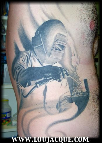 Tattoos the welder