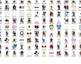 Disney Mickey Mouse Embroidery Designs