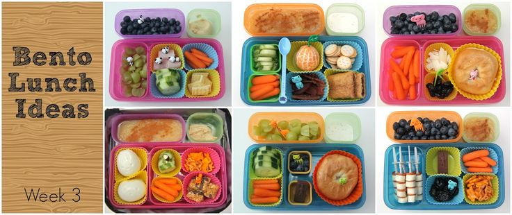 Another week means another Bento Round-up…ta-da! Week 3 for y'all…holy cats, can you believe my kids have been in school for 3 weeks already! Lunch 1: Applesauce with cinnamon, hummus, cucumbers slices with an acorn pick, baby carrots, hardboiled eggs in the shape of a bunny and a bear (using these molds found here), Annie's …