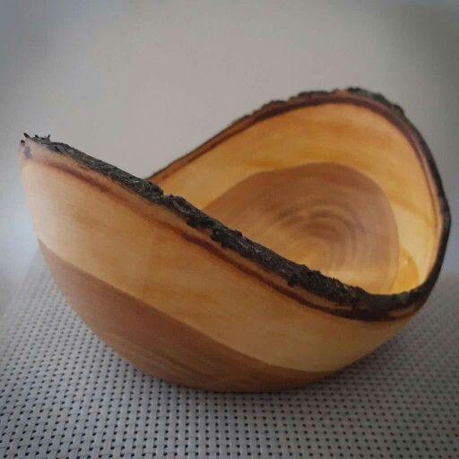 Kirschbaum Naturrand Schale #Drechseln #Woodturning