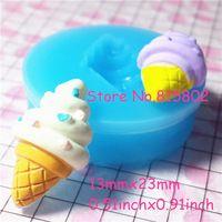 Freies Verschiffen XYL023U Eis Silikon-push Mold-Miniatur Lebensmittel, Sweets, Schmuck, Charme (Lehm Fimo Harz Paste)