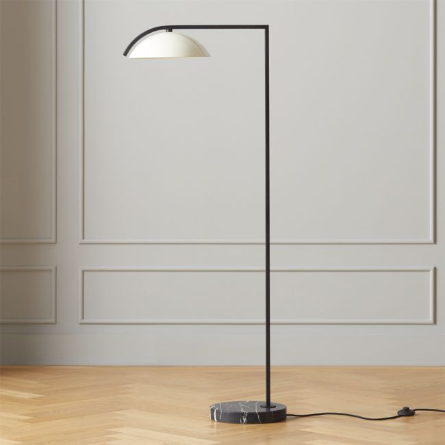 Belgrave Leather Globe Floor Lamp Cb2 In 2020 Globe Floor Lamp Black Floor Lamp Floor Lamp