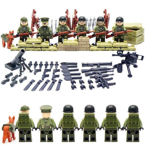 Satz von 6 US-Soldaten, benutzerdefinierte Minifiguren kompatibel mit Lego mit vielen Waffen, Zubehör, Mörtel, Maschinengewehre, Krieg Taschen, Hund. Alle Elemente, die auf den Fotos abgebildete sind Bestandteil dieses Set und erhalten Sie sie alle.  Bauen Sie Ihre Armee jetzt! Ich habe anderen Armeen, auch wenn Sie meinen Shop zu überprüfen. Dies ist ein tolles Geschenk für Kinder oder Erwachsene, zu sammeln. Die Minifigs sind aus guter Qualität und schlagfestem ABS-Kunststoff gefertigt…