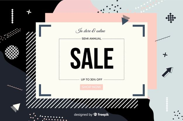 Download Flat Design Abstract Sale Background For Free