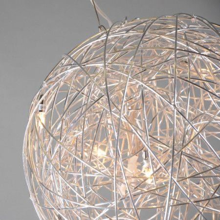 pendelleuchte draht kugel 40cm aluminium ein glanzvoller auftritt wundersch ne pendelleuchte. Black Bedroom Furniture Sets. Home Design Ideas