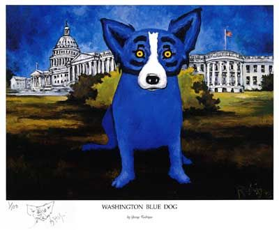 George Rodrigue...a LOUISIANA artist...I love his BLUE dog works.