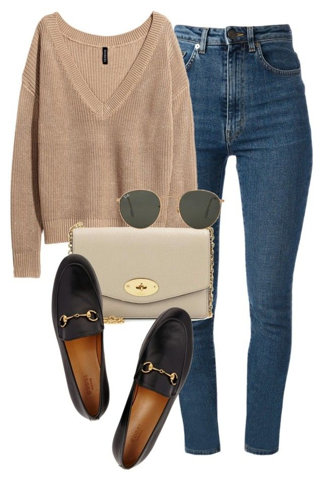 """Untitled #1437"" by morggz ❤ liked on Polyvore featuring Yves Saint Laurent, Mulberry, Gucci and Ray-Ban"