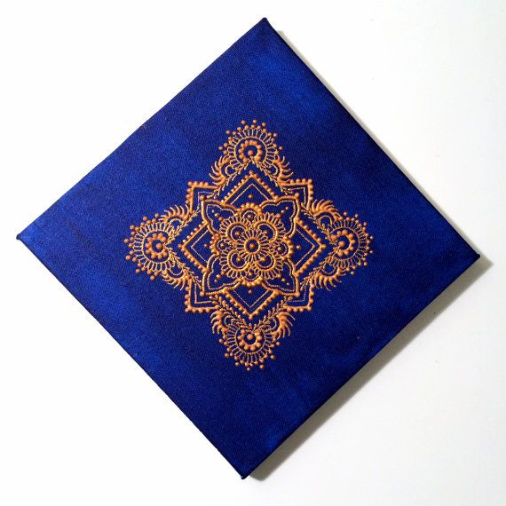 Henna Canvas Painting by SavitaDesigns on Etsy