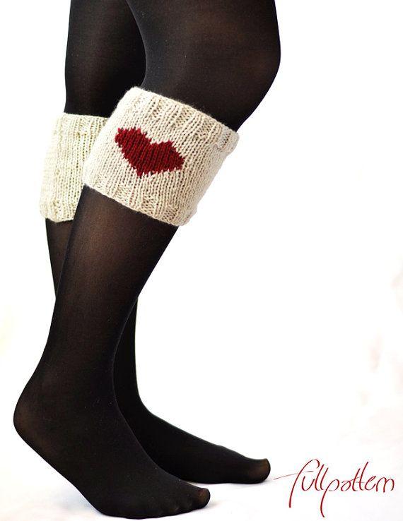 Mejores 43 imágenes de Knitting - Boot Toppers en Pinterest ...
