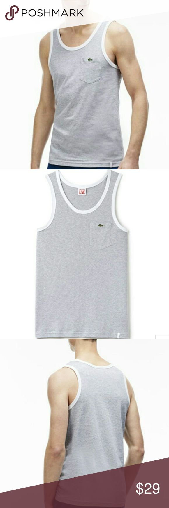 New Lacoste Live Pocketed Jersey Tank Top New Lacoste Live Pocketed Jersey Tank Top Lacoste Shirts Tank Tops