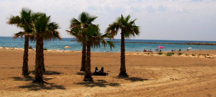 Benidorm beaches stretching six kilometres from Levante Beach in the east to Poniente Beach in the west - Spain