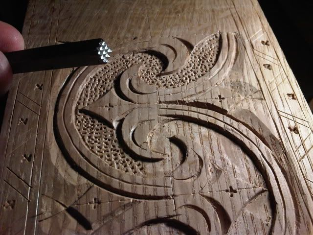 Th century carved box a la peter follansbee my way