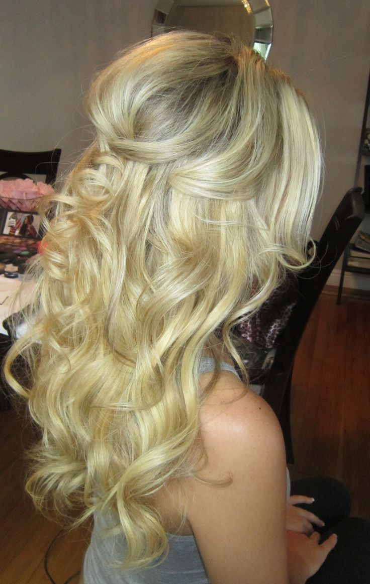 Half Up Half Down Beach Waves Wedding Hair Pinterest