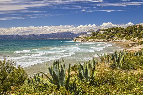 Coastline of Salou, Spain.