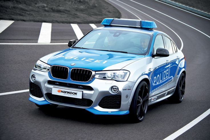 BMW X4 Police Car by AC Schnitzer - VIDEO - http://www.bmwblog.com/2014/11/28/bmw-x4-police-car-ac-schnitzer-video/