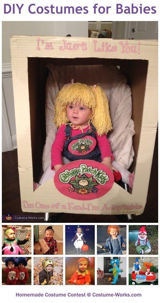 Bebé disfrazada de muñeca