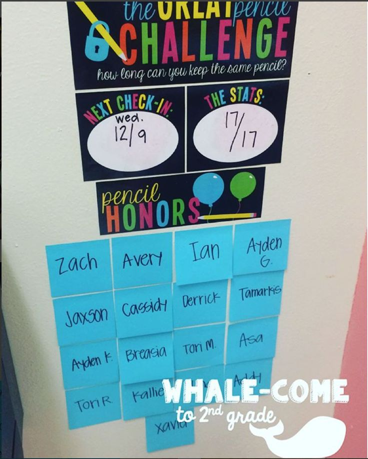 Whalecome to 2nd Grade: Does The Great Pencil Challenge Work?