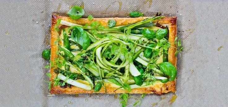 Terte med asparges og vårløk | Oppskrift på Lises blogg