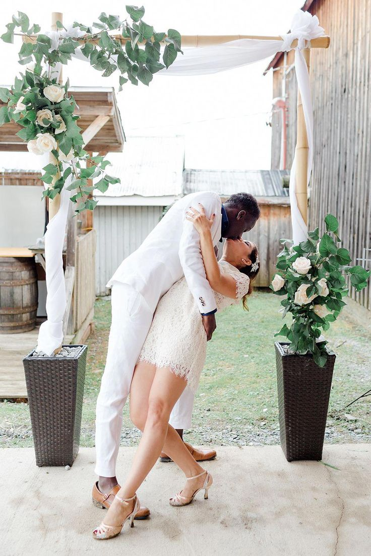 Learn how to build a bamboo DIY wedding arch for less than