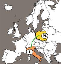 PRZEWOZY POLSKA - WLOCHY - Transport, Spedycja, Przewozy, Polska Anglia Włochy, z Anglii do Włoch i Polski