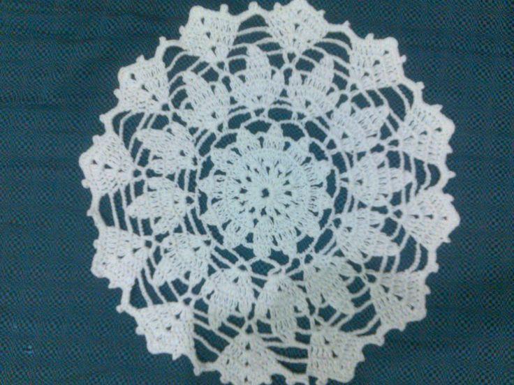 my first doilly #doilly #crochet