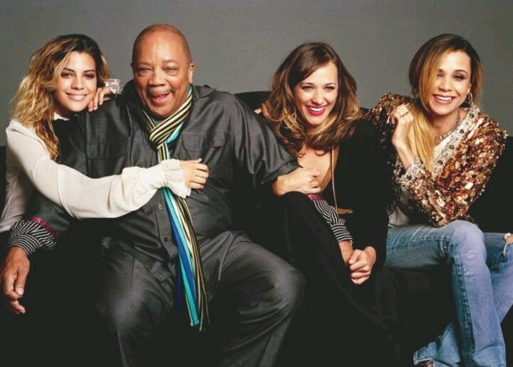 Quincy Jones and daughters