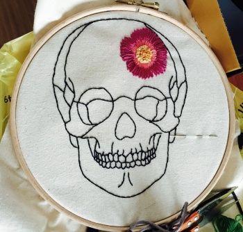 ANATOMIC SKULL Embroidery Pattern