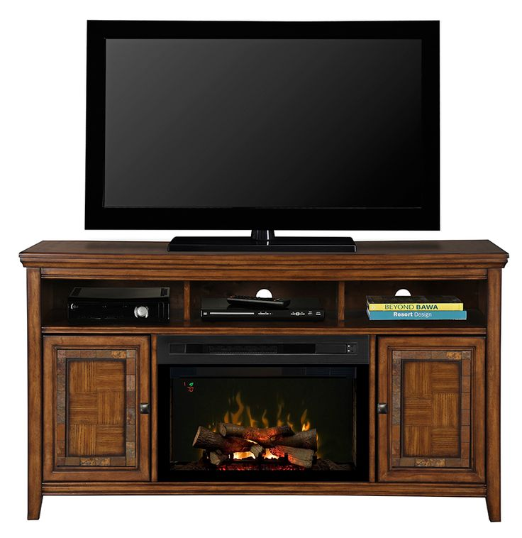 The design of the Lynbrook Media Console is as solid as the materials used to bring it to life. #Dimplex #fireplace