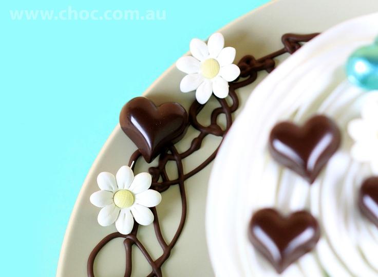 Dark Chocolate Hearts   www.choc.com.au