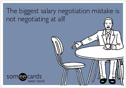 Negotiation >> The biggest salary negotiation mistake is not negotiating at all! | Careerisms | Pinterest