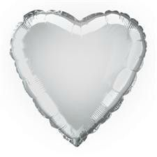 Silver Heart Helium Balloon   Wedding Decorations
