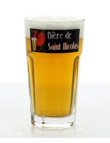 Verre Saint Nicolas: 25cl - Verre pour déguster une Bière de Saint Nicolas !