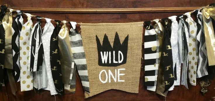 Wild One Banner, Wild One First Birthday, Wild One Sign, Wild One Decorations, Wild One 1st, Wild Things Banner, Wild One Party, Gold Black by bannersandbeyond on Etsy https://www.etsy.com/listing/507413343/wild-one-banner-wild-one-first-birthday