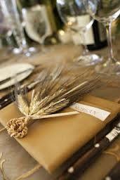 Idea: riprendere le spighe di grano nelle altre decorazioni