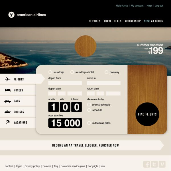 Experimental ID for American Airlines | Designer: Anna Kovecses
