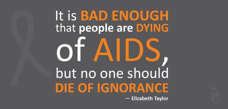 #WorldAIDSDay  Let's encourage awareness, not ignorance!