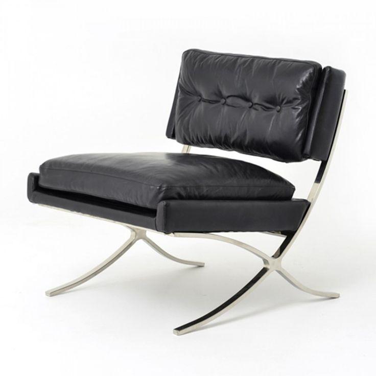 Carnegie Heathrow Lounge Chair-Os Black