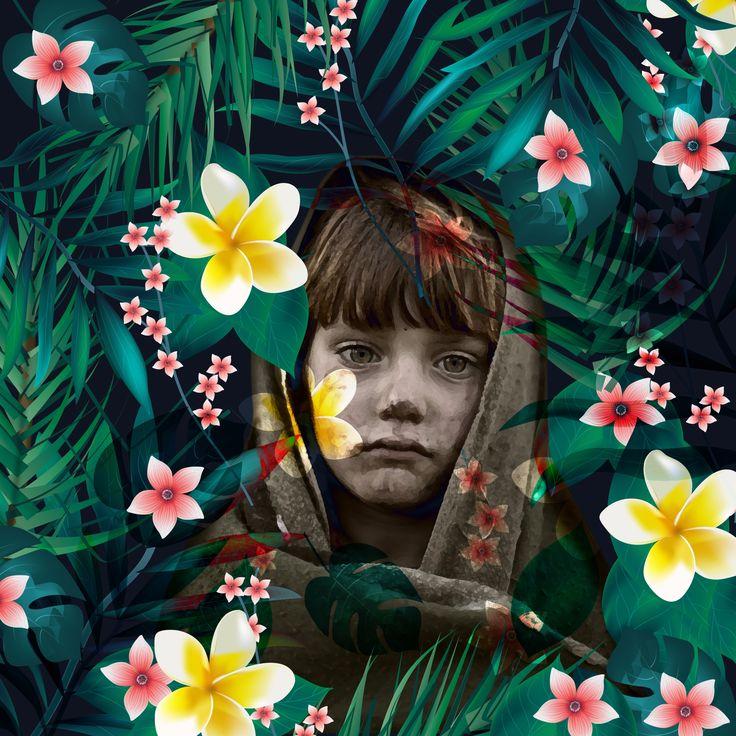 peace jungle  #peace #syrian #jungle #children #tropical #love #illustrator…
