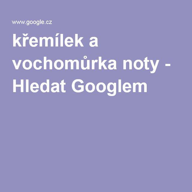 křemílek a vochomůrka noty - Hledat Googlem