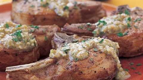 Pork Chops with Mustard-Cornichon Sauce Recipe
