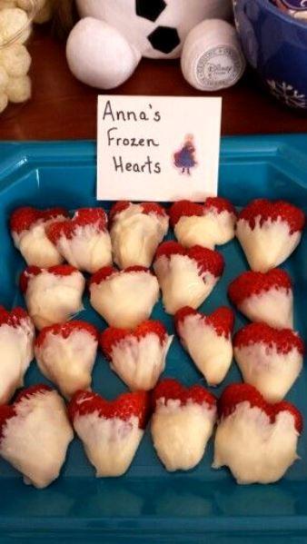 Frozen Anna's Frozen Heart / Heart Shaped Strawberries