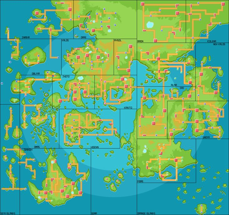 Someone has put together the Pokémon worlds to a big Pokémon World Map - Imgur