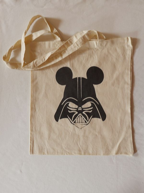 Mickey Vader Cotton Tote via Tribe of E. Click on the image to see more!